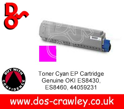 Toner Magenta Cartridge Genuine OKI ES8430 ES8460, 44059230