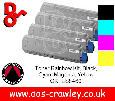 Toner # Rainbow Pack, Black, Cyan, Magenta, Yellow, Oki ES8460