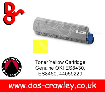 Toner Yellow Cartridge Genuine OKI ES8430 ES8460, 44059229