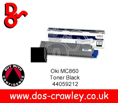 Toner Black, OKI MC860, 44059212