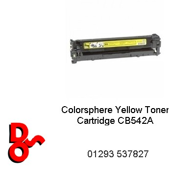 Toner Cartridge Yellow HP CB542A (Compatible)