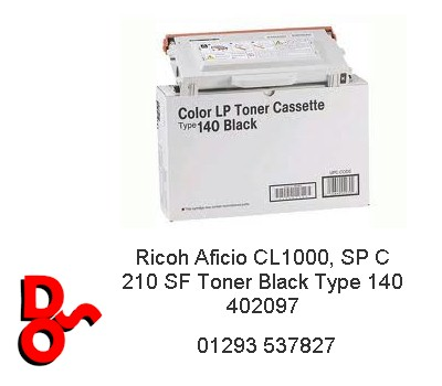 Ricoh Aficio CL1000 Toner Black Type 140 402097