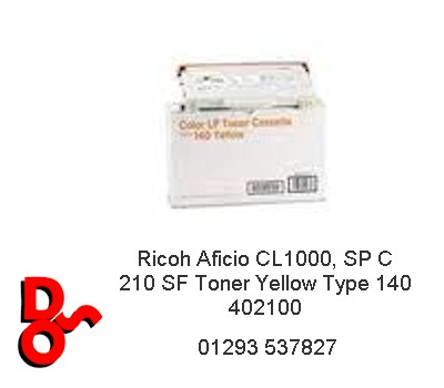 Ricoh Aficio CL1000 Toner Yellow Type 140 402100