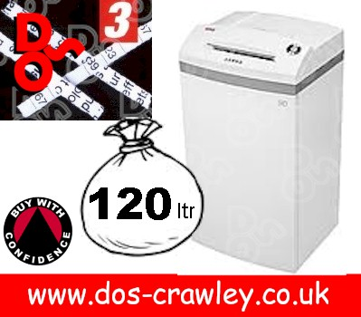 Intimus Pro 120 CC3 Cross Cut Shredder security level 3