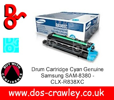 Drum Cartridge Cyan Genuine Samsung SAM-8380 - CLX-R838XC