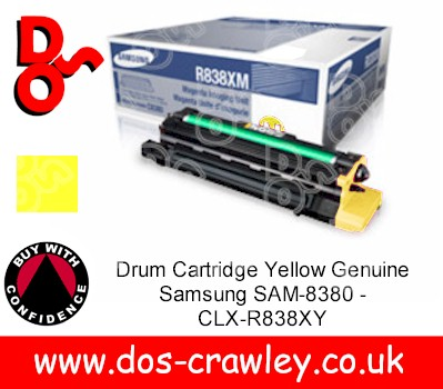 Drum Cartridge Yellow Genuine Samsung SAM-8380 - CLX-R838XY