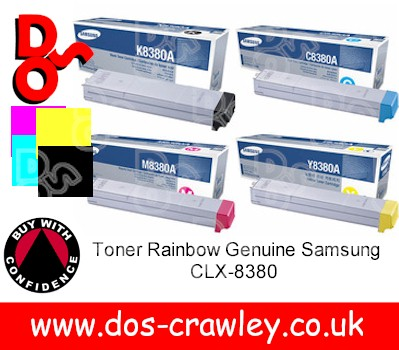 Toner Rainbow Set Genuine Samsung CLX-8380
