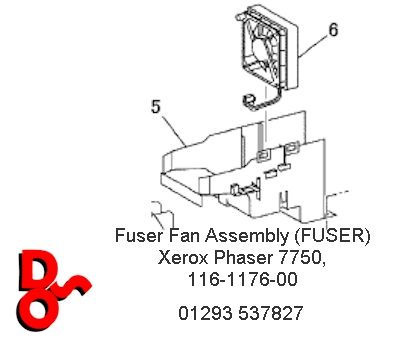 Fuser Fan Assembly (FUSER) Phaser 7750, 116-1176-00